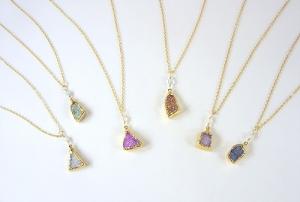 Druzy mini pendants (PGD-S)