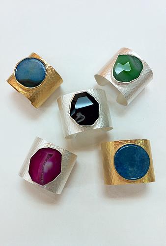Various Agate Quartz Cuff