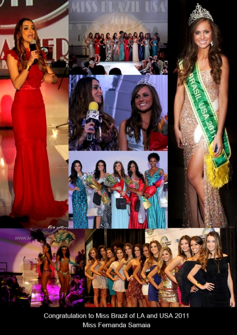 Fernanda Samaia, Miss Brazil of Los Angeles and USA