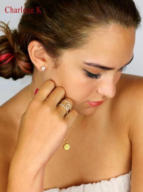 Charlene K 14K Gold Vermeil Initial Pendant