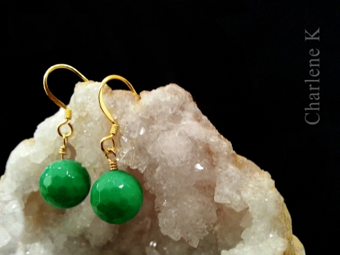 charlene k green agate earrings