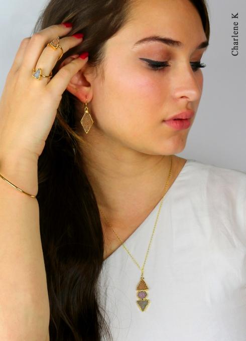 Druzy gemstone collection by Charlene K
