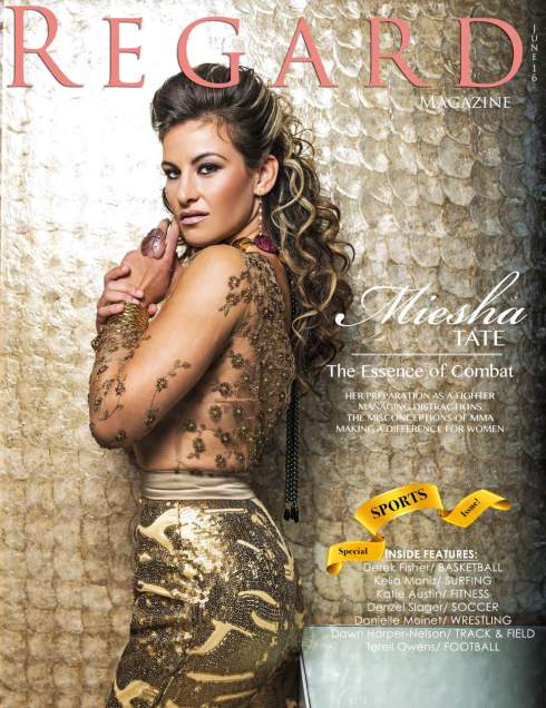 Charlene K jewelry featured on Regard magazine cover