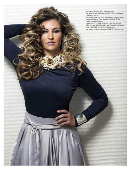 UFC Miesha Tate wore Charlene K jewelry featured on Regard magazine cover