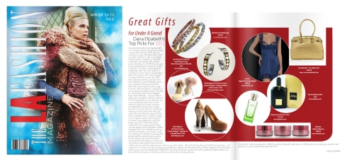 LA Fashion Magazine Features Charlene K Jewelry Winter 2012 Issue