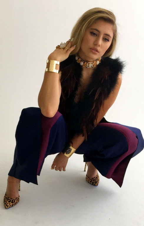 Charlene K gemstone gold cuff
