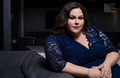 Chrissy Metz was seen wearing Charlene K jewelry on Regard Magazine