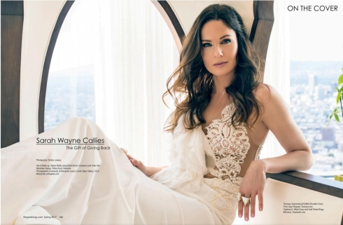 Charlene K was seen on Regard Magazine Cover with Sarah Wayne Callies March 2017 Issue