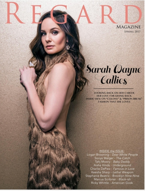 Charlene K was seen on Regard Magazine Cover with Sarah Wayne Callies