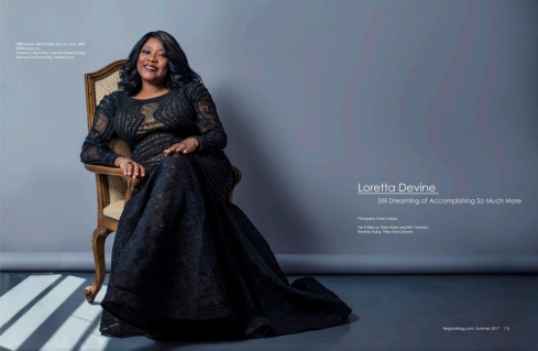Loretta Devine is wearing Charlene K jewelry