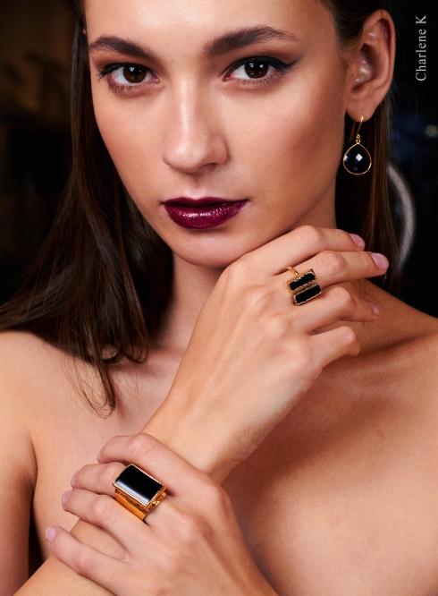 Charlene K onyx gemstones jewelry collection